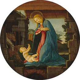 The Virgin Adoring the Child, c.1480/90 by Botticelli | Painting Reproduction