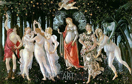 Primavera, c.1482 | Botticelli | Painting Reproduction