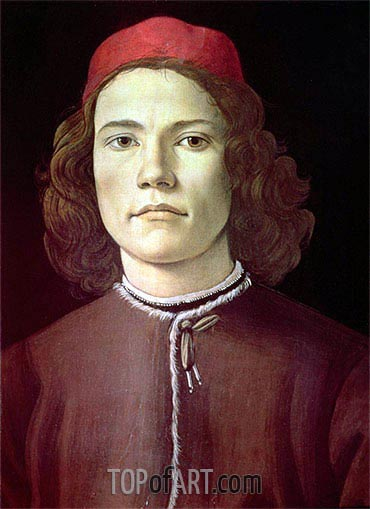 Portrait of a Young Man, c.1480/85 | Botticelli | Gemälde Reproduktion