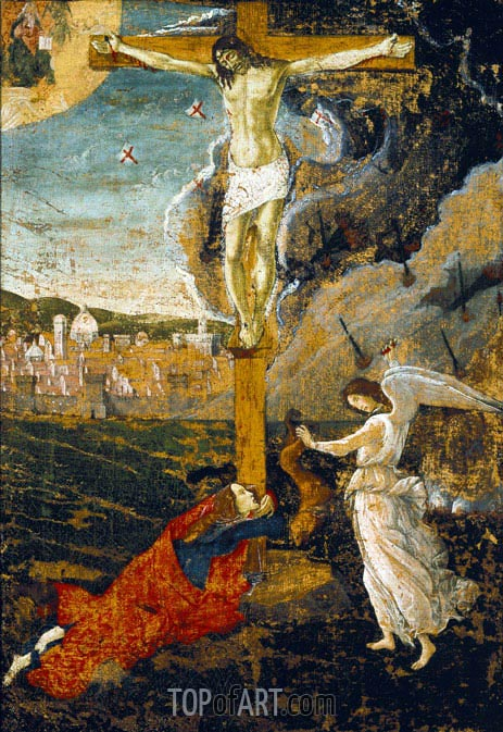 Mystic Crucifixion, c.1500 | Botticelli | Painting Reproduction