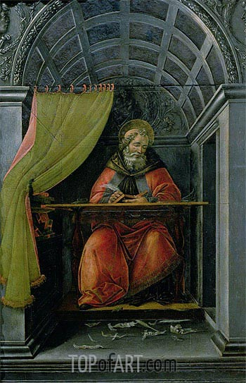 Saint Augustine in his Cell, 1490 | Botticelli | Gemälde Reproduktion