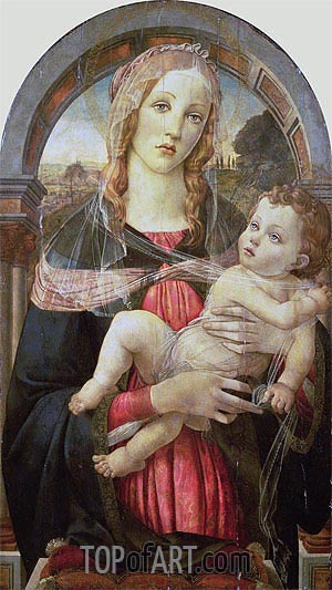 The Virgin and Child, Undated | Botticelli | Gemälde Reproduktion