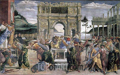 The Punishment of Korah, Dathan and Abiram, 1481 | Botticelli | Painting Reproduction