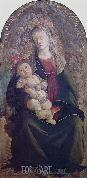 Madonna and Child in Glory, Undated | Botticelli | Gemälde Reproduktion