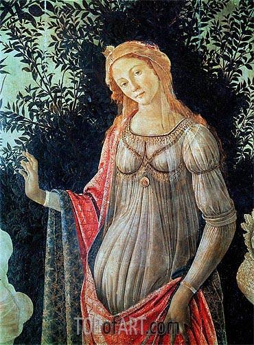 Primavera (Detail), c.1478 | Botticelli | Gemälde Reproduktion
