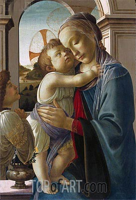 Virgin and Child with an Angel, c.1475/85 | Botticelli | Painting Reproduction
