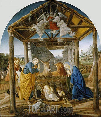 The Nativity, c.1475   Botticelli   Painting Reproduction