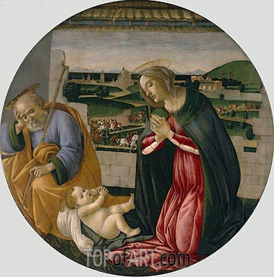 The Adoration of the Child, c.1500 | Botticelli | Painting Reproduction