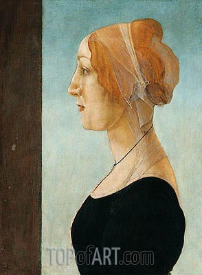 Portrait of a Lady, Undated | Botticelli | Painting Reproduction