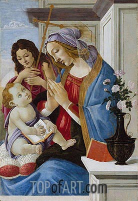 Virgin and Child with Saint John the Baptist, c.1500 | Botticelli | Painting Reproduction