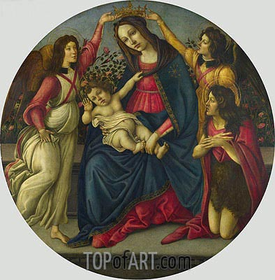The Virgin and Child with Saint John and Two Angels, c.1490/00 | Botticelli | Painting Reproduction