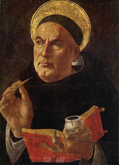 St. Thomas Aquinas, c.1480/85 | Botticelli | Painting Reproduction