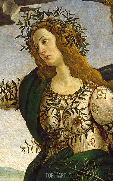 Athene - Detail from Athene and the Centaur, c.1480 | Botticelli | Painting Reproduction
