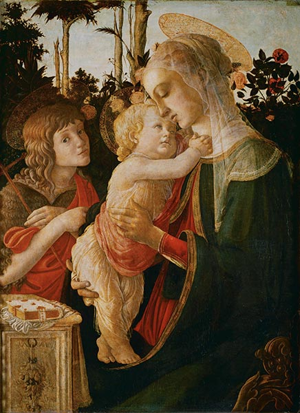Madonna and Child with the Young St. John the Baptist, c.1468 | Botticelli | Painting Reproduction