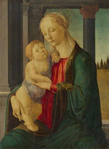 Madonna and Child, c.1470   Botticelli   Painting Reproduction