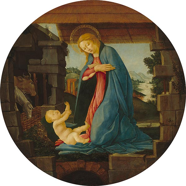 The Virgin Adoring the Child, c.1480/90   Botticelli   Painting Reproduction