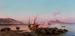 View of the Bay of Naples | Alessandro la Volpe | Painting Reproduction