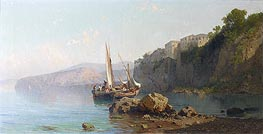 Passage of Roseto, Sorrento, 1878 by Alessandro la Volpe | Painting Reproduction
