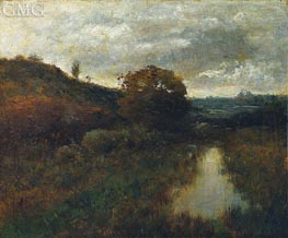 Autumn Landscape and Pool, 1889 by Alexander Wyant | Painting Reproduction