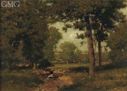 Brook in the Woods, undated by Alexander Wyant | Painting Reproduction