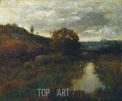 Autumn Landscape and Pool, 1889   Alexander Wyant   Painting Reproduction