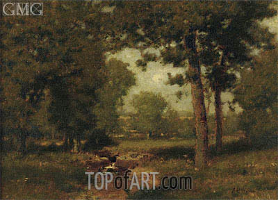 Brook in the Woods, undated | Alexander Wyant | Painting Reproduction