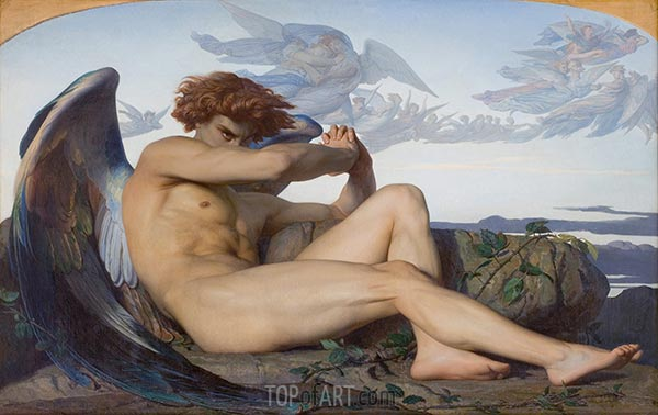 Fallen Angel, 1847 | Alexandre Cabanel | Painting Reproduction