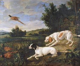 Diane and Blonde, 1702 by Alexandre-François Desportes | Painting Reproduction