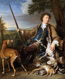 Self-Portrait as a Hunter, 1699 by Alexandre-François Desportes | Painting Reproduction