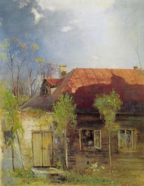 Small House in a Province. Spring, 1878 by Alexey Savrasov | Painting Reproduction