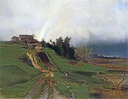 Rainbow, 1875 by Alexey Savrasov | Painting Reproduction