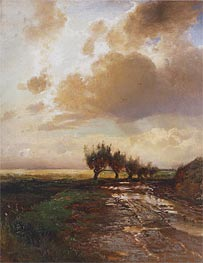 A Cart-Track (Country Road), 1873 by Alexey Savrasov | Painting Reproduction