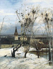 The Rooks Have Come, 1871 by Alexey Savrasov | Painting Reproduction