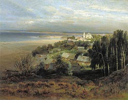 The Pechersk Monastery near Nizhny Novgorod, 1871 by Alexey Savrasov | Painting Reproduction