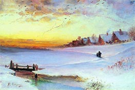 Thawing Weather, c.1890 by Alexey Savrasov | Painting Reproduction