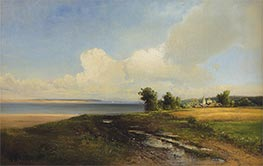 Landscape. Volga, 1874 by Alexey Savrasov | Painting Reproduction