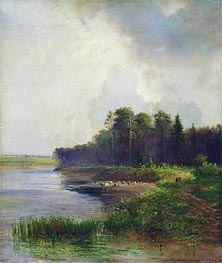 Coast of the River, 1879 von Alexey Savrasov | Gemälde-Reproduktion