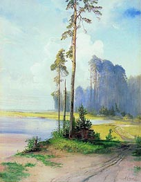 Summer Landscape. Pines, c.1880 by Alexey Savrasov | Painting Reproduction
