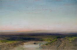 Sunset, c.1870 by Alexey Savrasov | Painting Reproduction