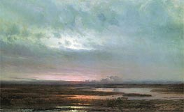 Sunset Above Bogs, 1871 by Alexey Savrasov | Painting Reproduction