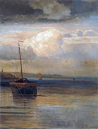 Volga. Landscape, c.1870 by Alexey Savrasov | Painting Reproduction