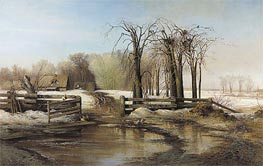 Spring Day, 1873 by Alexey Savrasov | Painting Reproduction