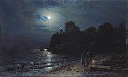 Moonlight on the Edge of a Lake | Alexey Savrasov | Gemälde Reproduktion