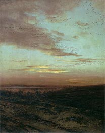 Evening. Flight of Birds | Alexey Savrasov | Gemälde Reproduktion