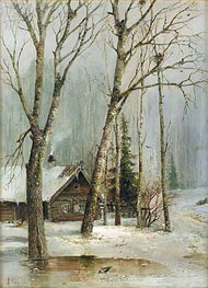 Cottage in the Woods | Alexey Savrasov | Gemälde Reproduktion