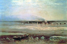 Flood of Volga near Yaroslavl | Alexey Savrasov | Gemälde Reproduktion
