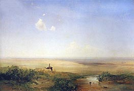 Steppe. Afternoon | Alexey Savrasov | Gemälde Reproduktion