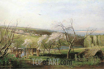 Country Road, 1867 | Alexey Savrasov | Painting Reproduction