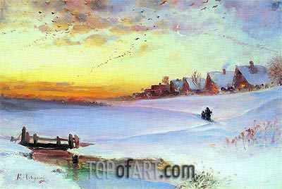Thawing Weather, c.1890 | Alexey Savrasov | Painting Reproduction