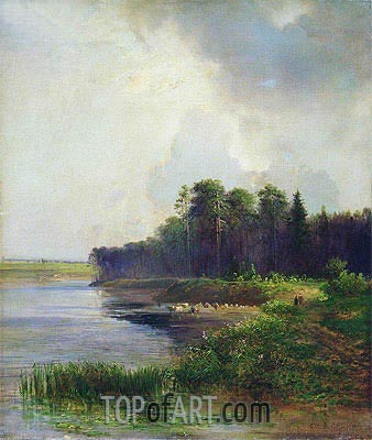 Coast of the River, 1879 | Alexey Savrasov | Painting Reproduction
